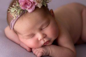 close up newborn
